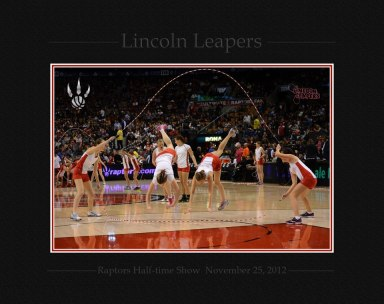 Lincoln Leapers performing at a Raptors Game