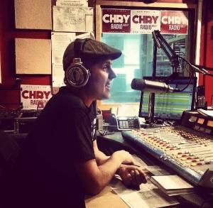 Mathieu Brûlé on the radio