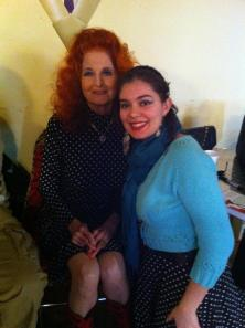 Brooke with burlesque legend Tempest Storm.